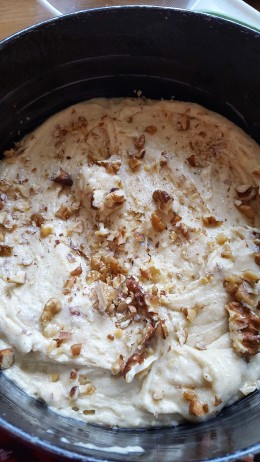 topped with nuts