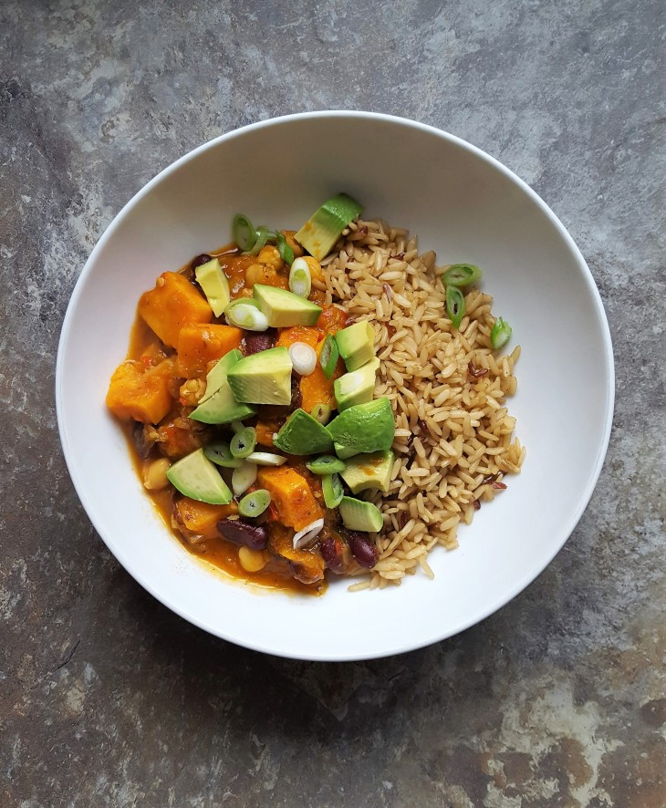 sweet potato & bean stew