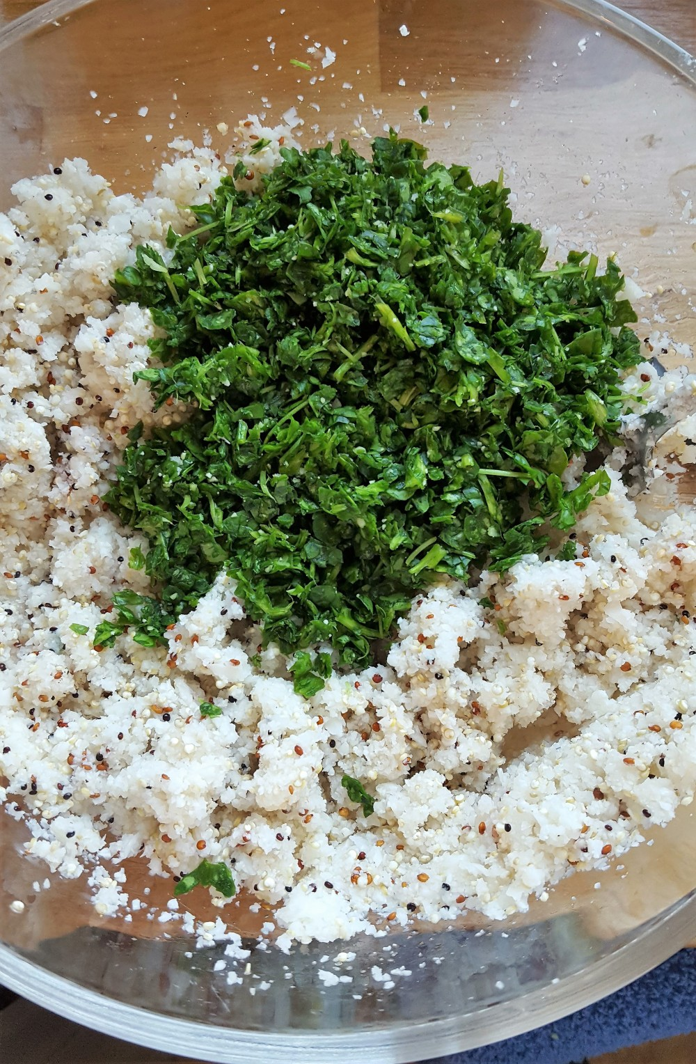 rice and herbs